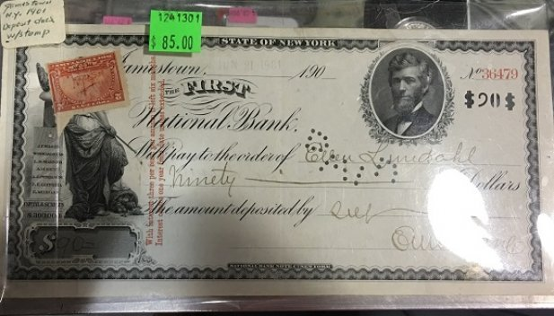 FIRST NATIONAL BANK W/ 2 CENT STAMP