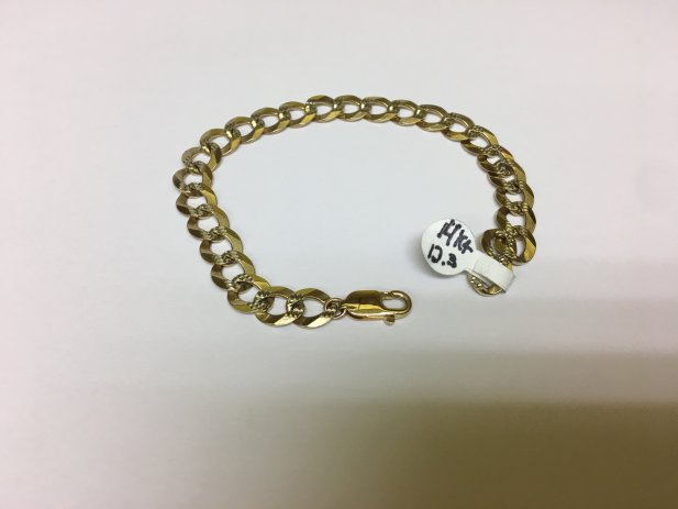 14k Mens Bracelet